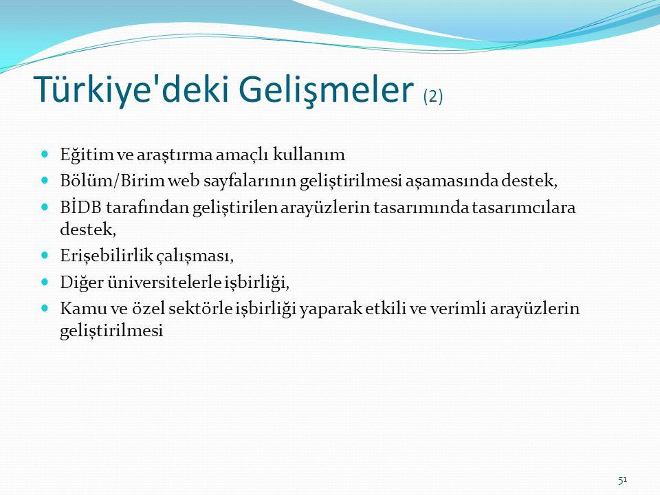 Türkiye deki Gelişmeler (2)