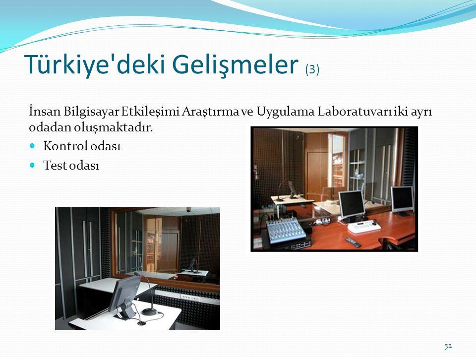 Türkiye deki Gelişmeler (3)