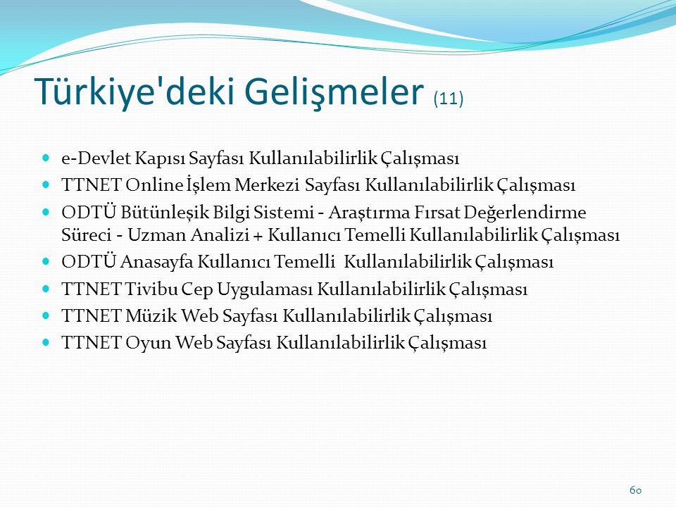 Türkiye deki Gelişmeler (11)