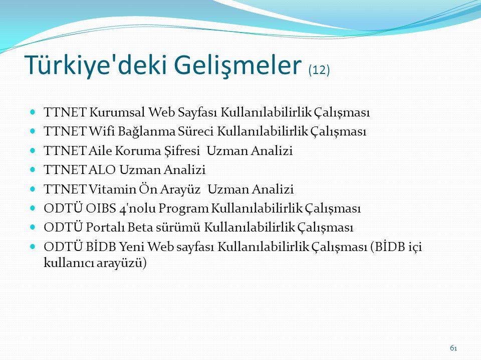 Türkiye deki Gelişmeler (12)