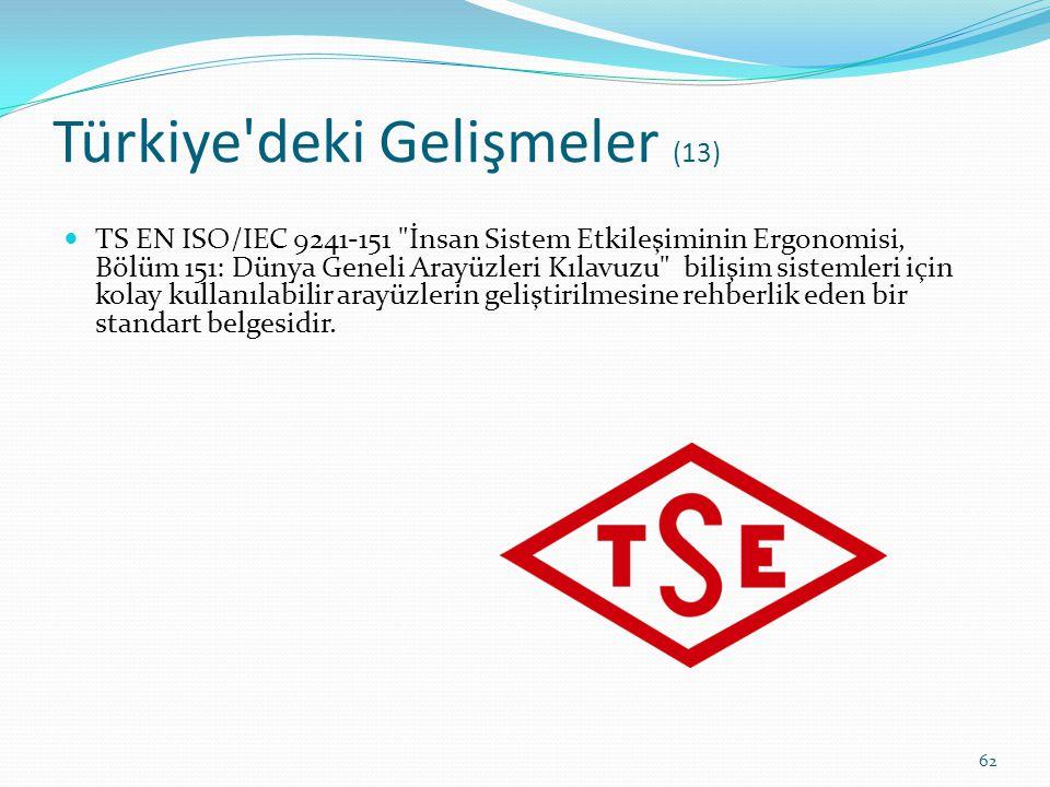 Türkiye deki Gelişmeler (13)