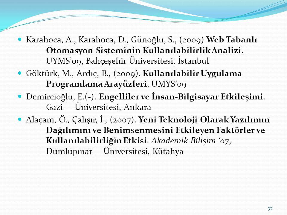 Karahoca, A. , Karahoca, D. , Günoğlu, S. , (2009) Web Tabanlı