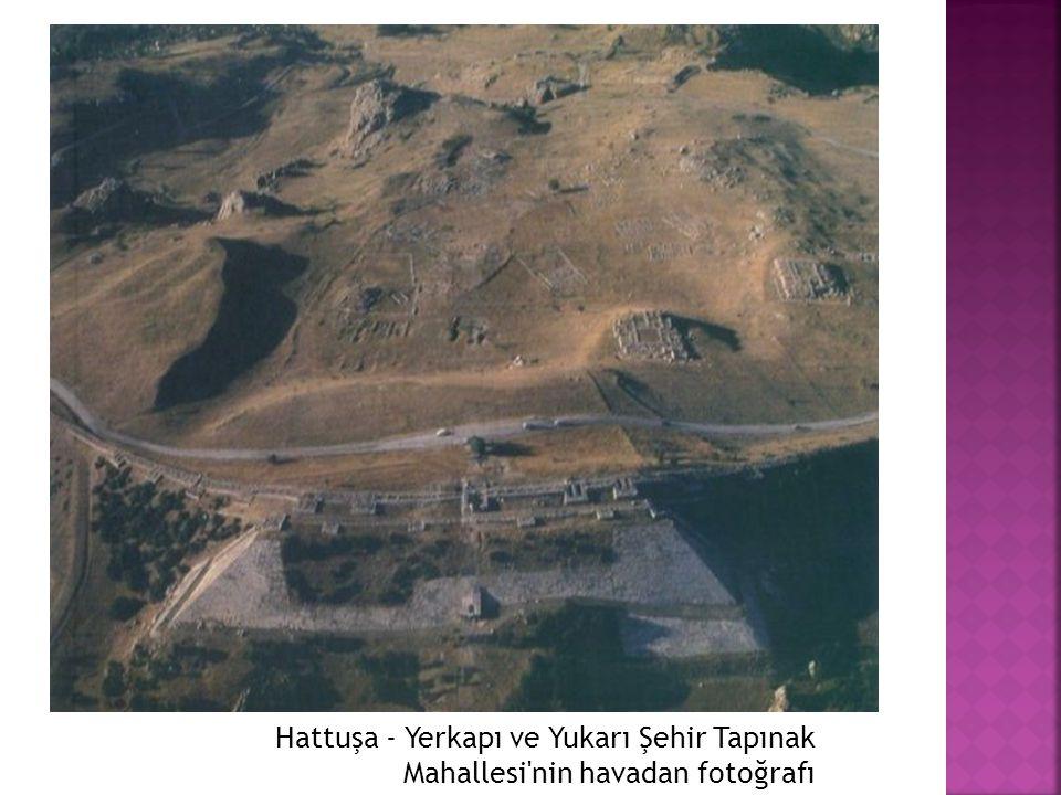 Hattuşa - Yerkapı ve Yukarı Şehir Tapınak Mahallesi nin havadan fotoğrafı