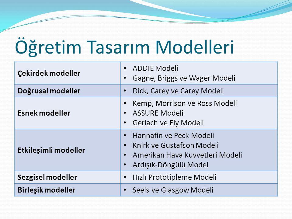 Öğretim Tasarım Modelleri