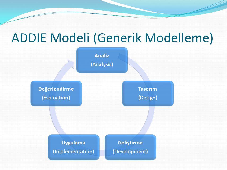 ADDIE Modeli (Generik Modelleme)