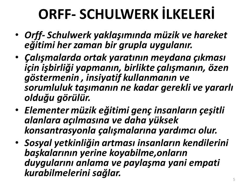 ORFF- SCHULWERK İLKELERİ