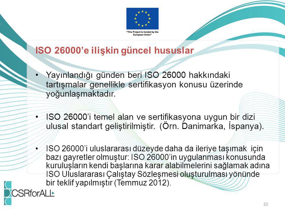 ISO 26000'e ilişkin güncel hususlar