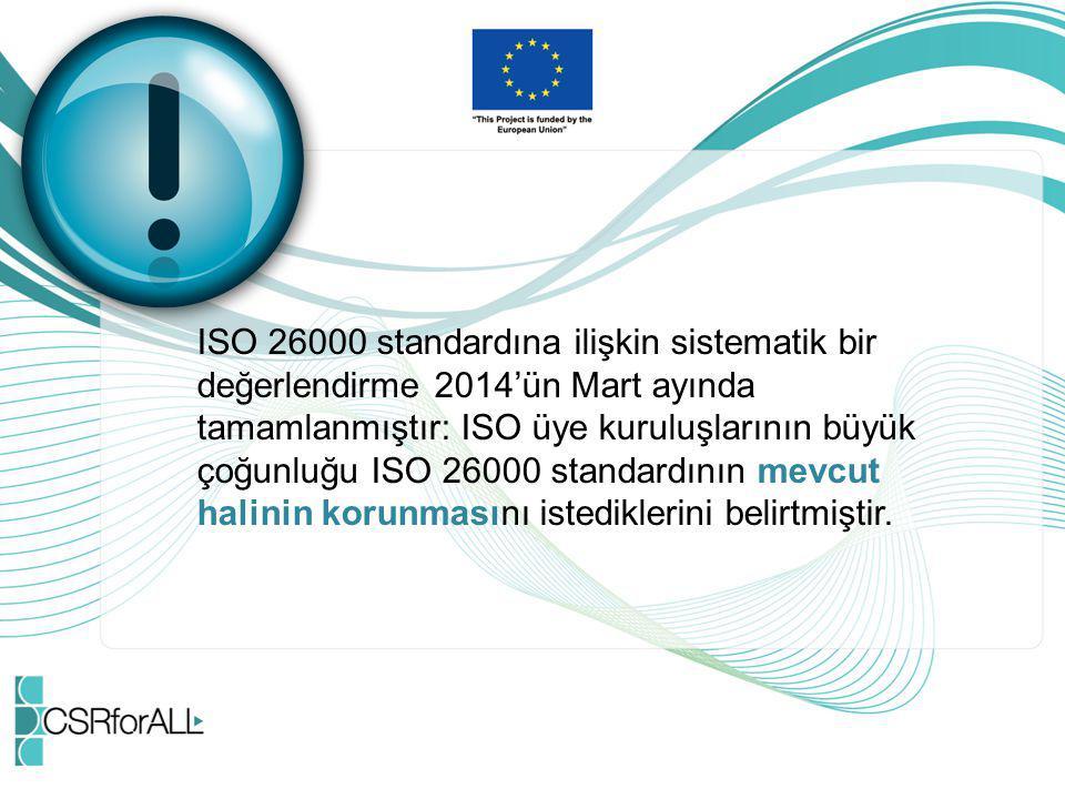 ISO 26000 standardına ilişkin sistematik bir
