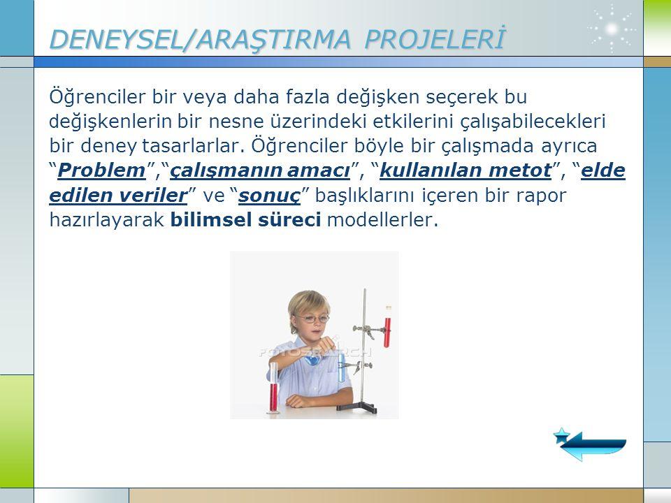 DENEYSEL/ARAŞTIRMA PROJELERİ