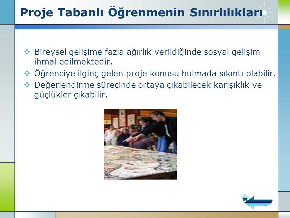 Proje Tabanlı Öğrenmenin Sınırlılıkları