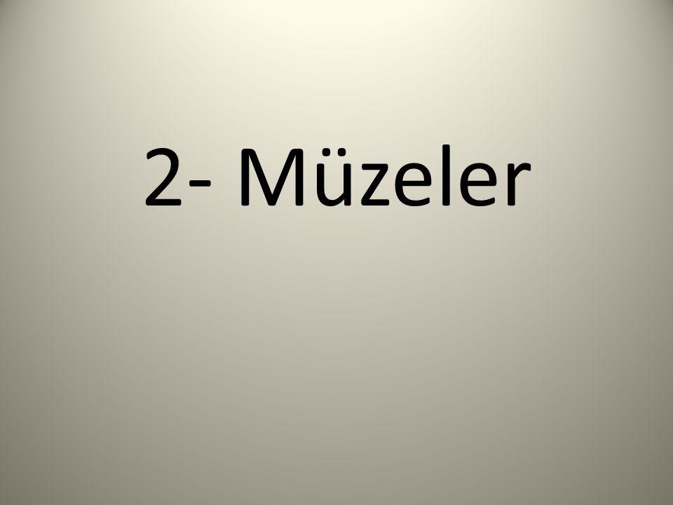 2- Müzeler