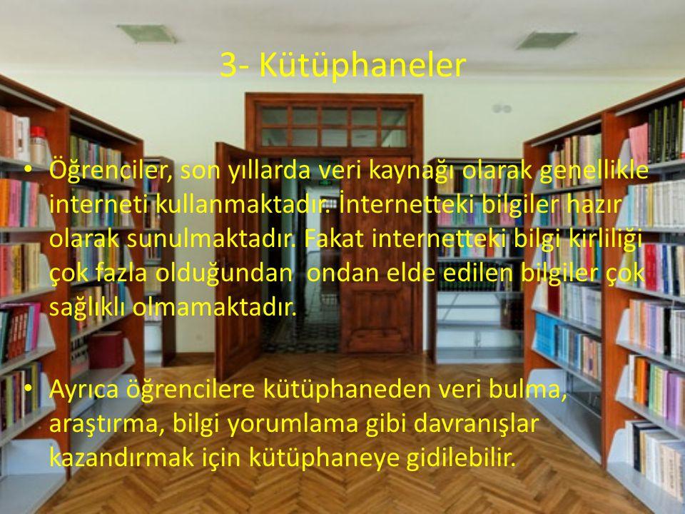 3- Kütüphaneler