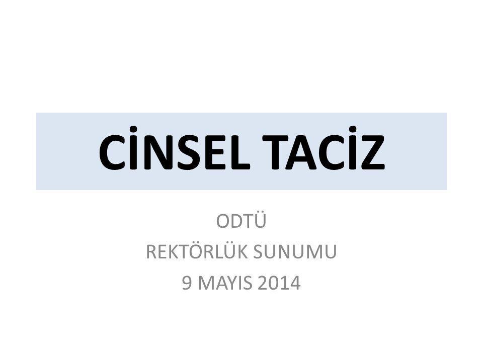 ODTÜ REKTÖRLÜK SUNUMU 9 MAYIS 2014