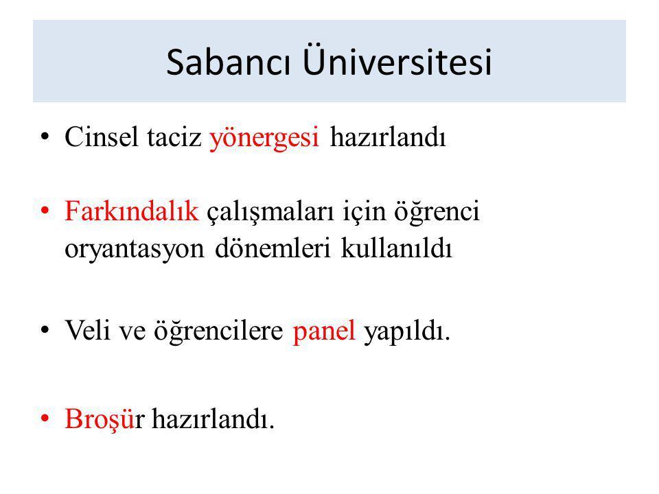 Sabancı Üniversitesi Cinsel taciz yönergesi hazırlandı