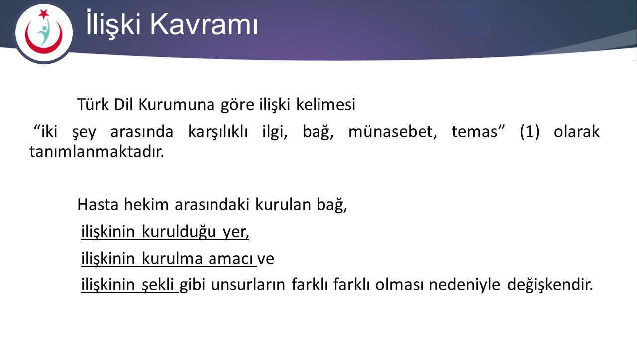 İlişki Kavramı Türk Dil Kurumuna göre ilişki kelimesi