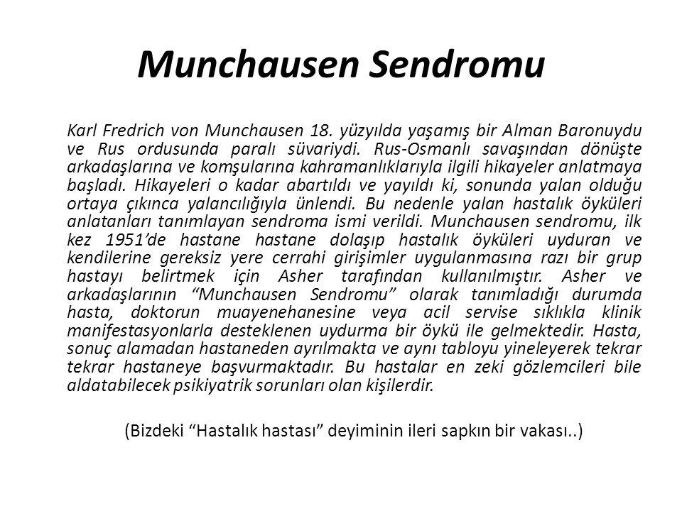 Munchausen Sendromu