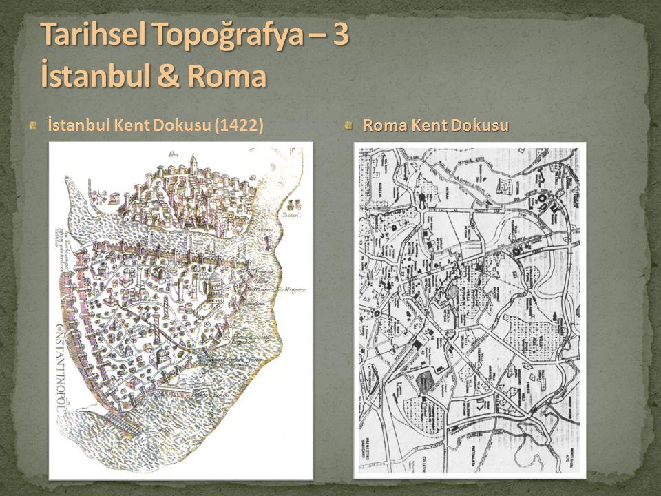 Tarihsel Topoğrafya – 3 İstanbul & Roma