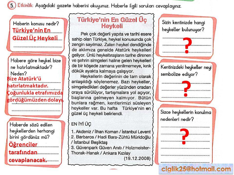 Türkiye'nin En Güzel Üç Heykeli