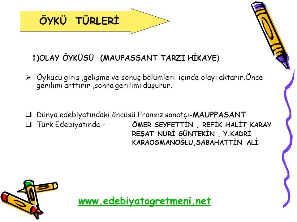 ÖYKÜ TÜRLERİ www.edebiyatogretmeni.net
