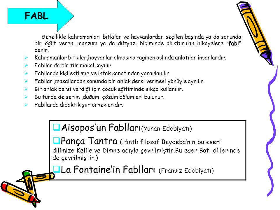 Aisopos'un Fablları(Yunan Edebiyatı)