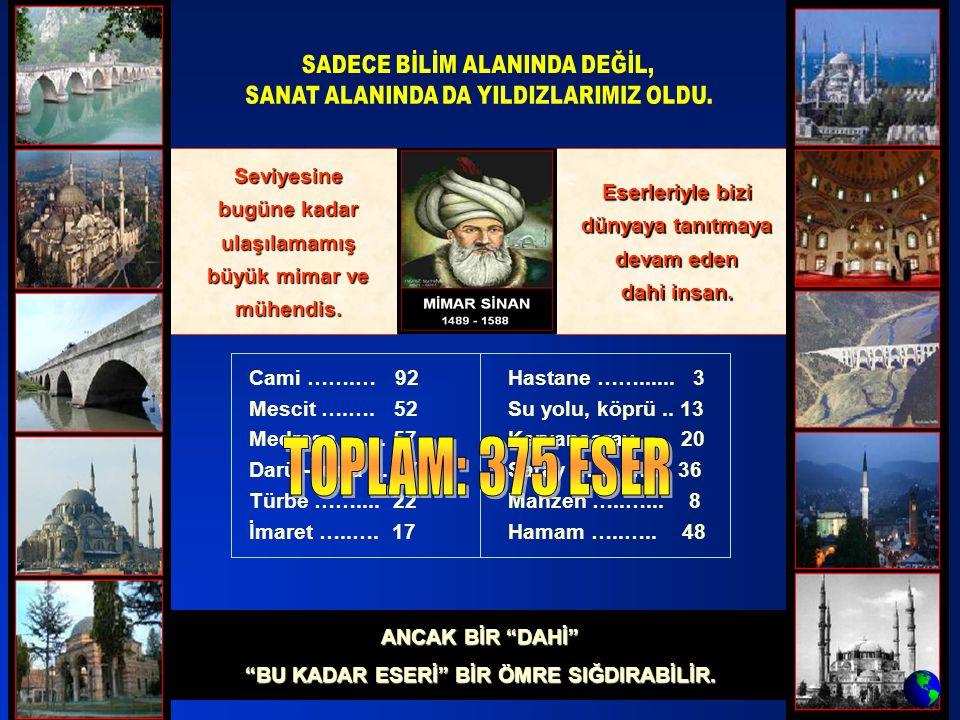 TOPLAM: 375 ESER Seviyesine bugüne kadar ulaşılamamış