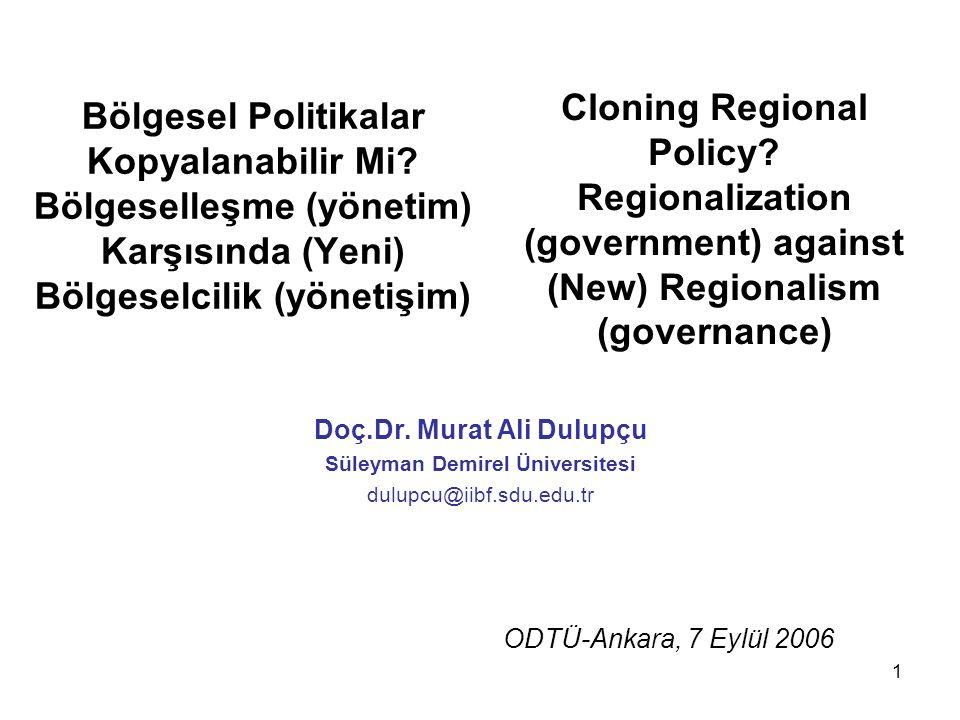 Doç.Dr. Murat Ali Dulupçu Süleyman Demirel Üniversitesi