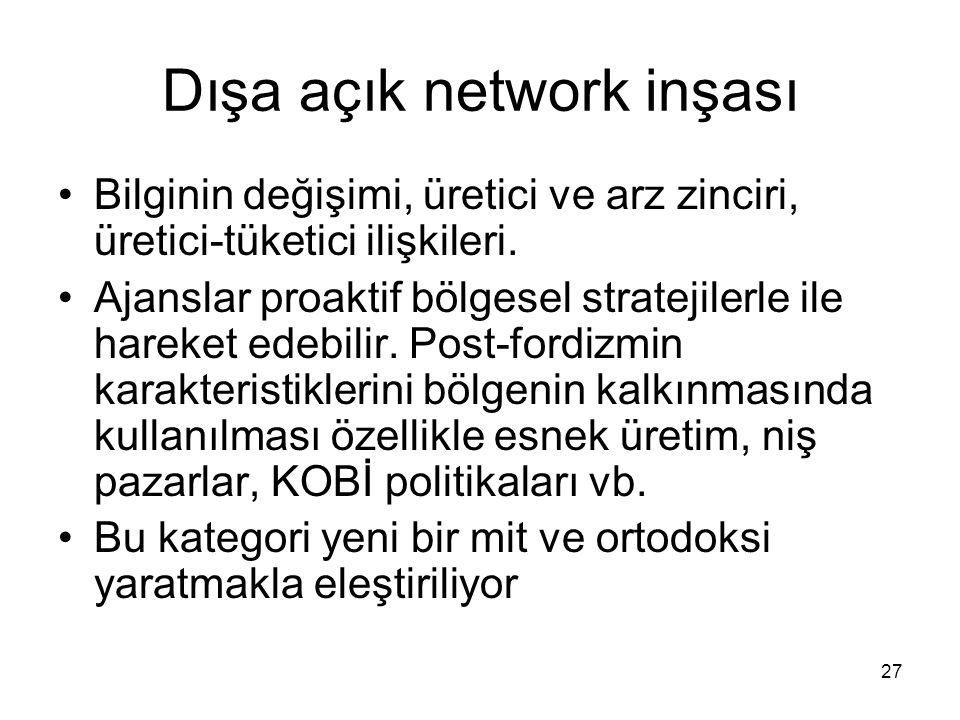 Dışa açık network inşası