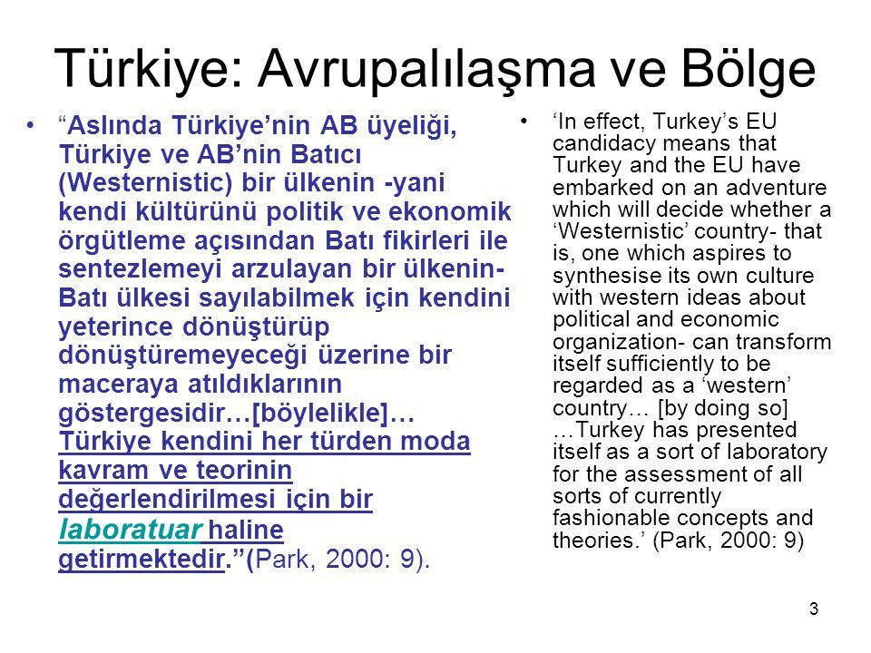 Türkiye: Avrupalılaşma ve Bölge