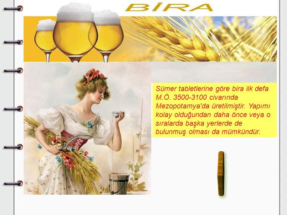 Sümer tabletlerine göre bira ilk defa M. Ö