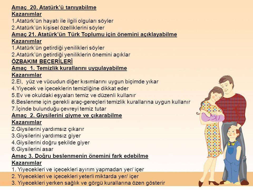 Amaç 20. Atatürk'ü tanıyabilme
