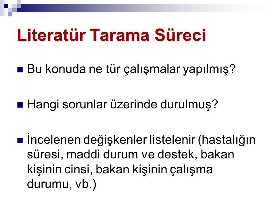 Literatür Tarama Süreci