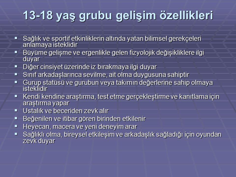 13-18 yaş grubu gelişim özellikleri
