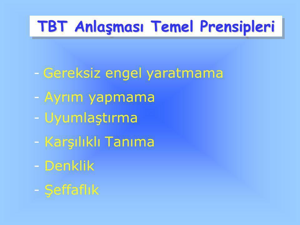 TBT Anlaşması Temel Prensipleri