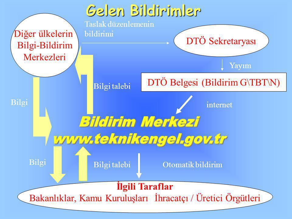 Gelen Bildirimler Bildirim Merkezi www.teknikengel.gov.tr