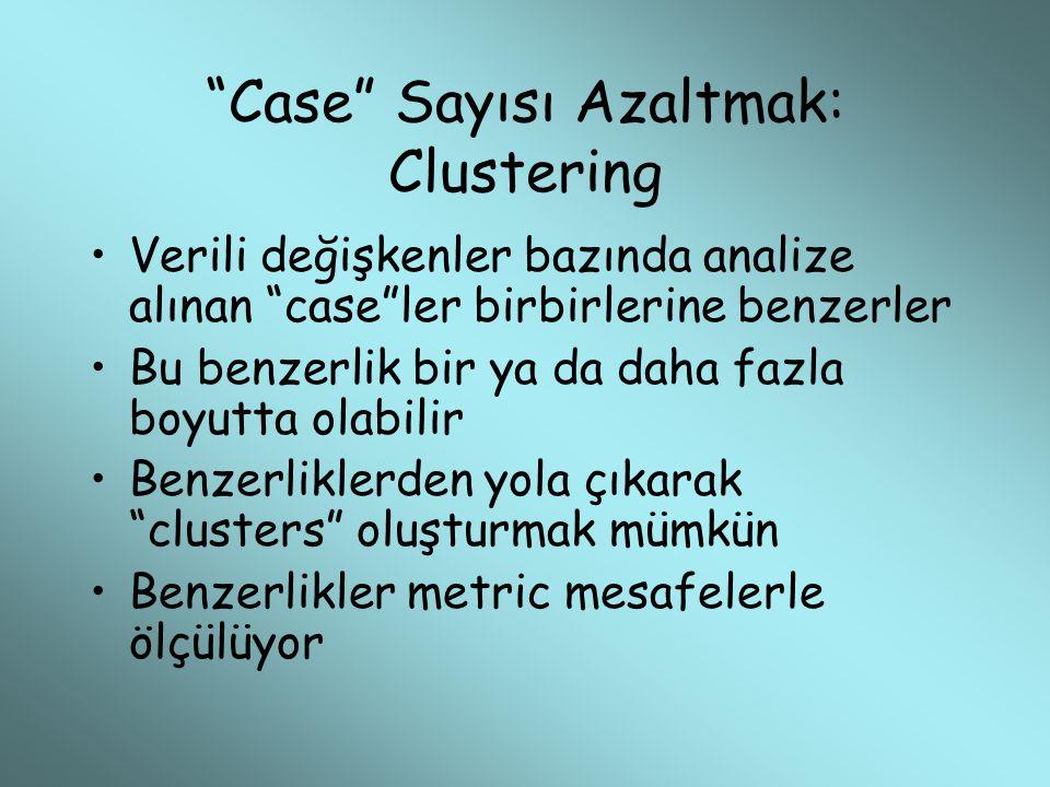 Case Sayısı Azaltmak: Clustering