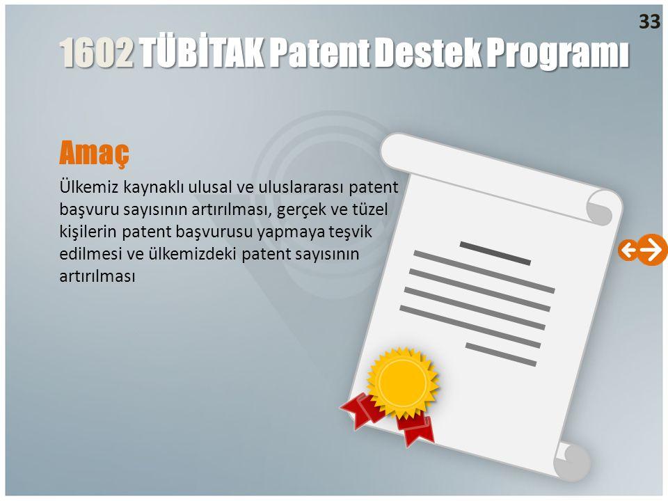 1602 TÜBİTAK Patent Destek Programı