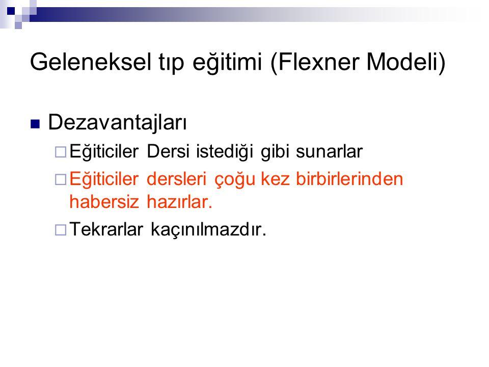 Geleneksel tıp eğitimi (Flexner Modeli)