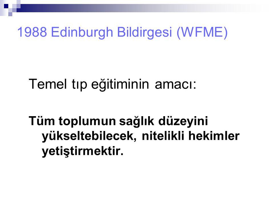 1988 Edinburgh Bildirgesi (WFME)