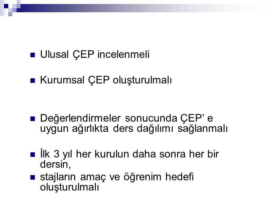 Ulusal ÇEP incelenmeli