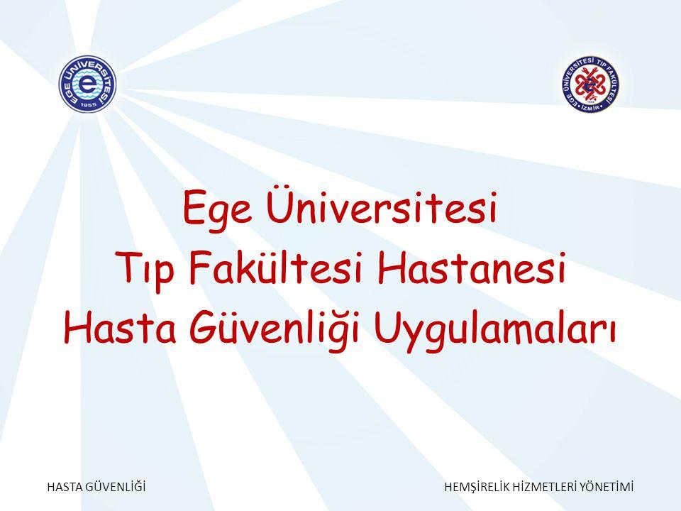 Ege Üniversitesi Tıp Fakültesi Hastanesi Hasta Güvenliği Uygulamaları