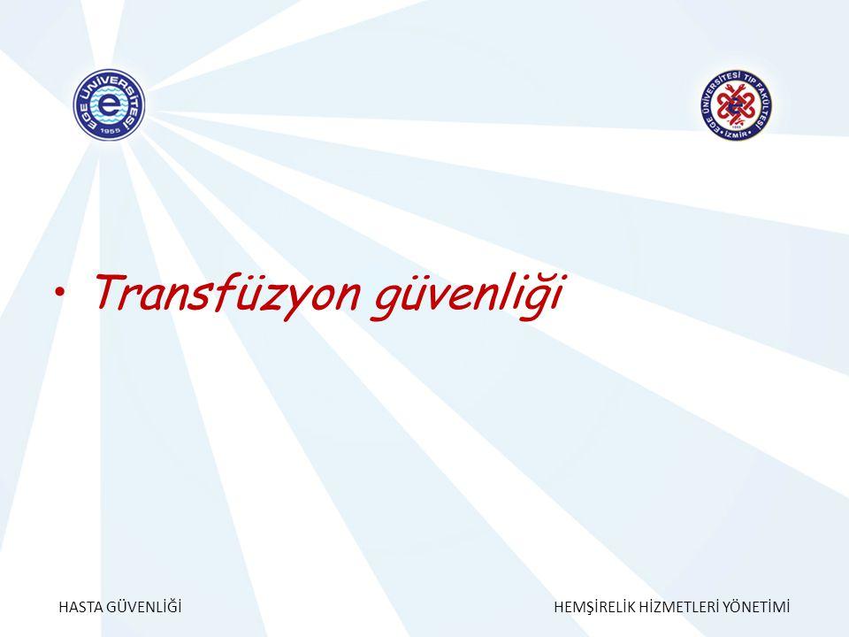 Transfüzyon güvenliği