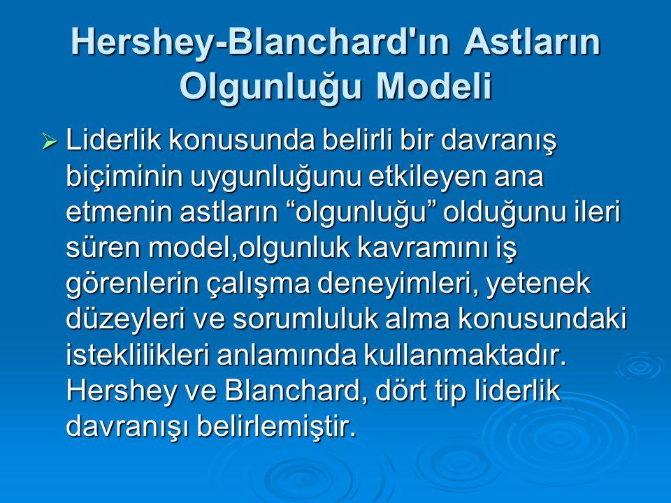 Hershey-Blanchard ın Astların Olgunluğu Modeli