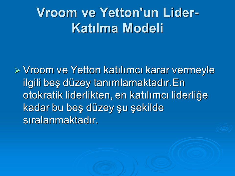 Vroom ve Yetton un Lider-Katılma Modeli