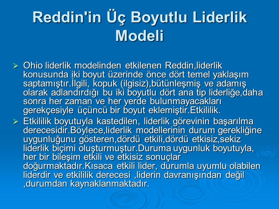 Reddin in Üç Boyutlu Liderlik Modeli