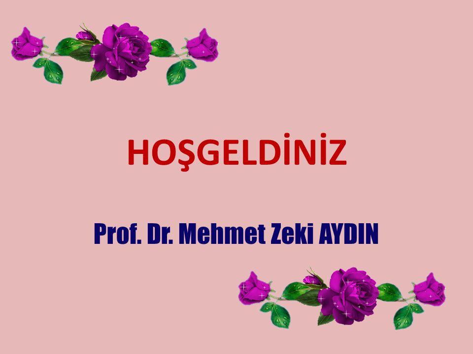 Prof. Dr. Mehmet Zeki AYDIN