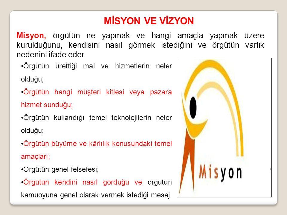 MİSYON VE VİZYON