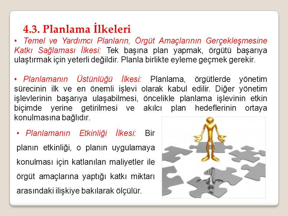 4.3. Planlama İlkeleri