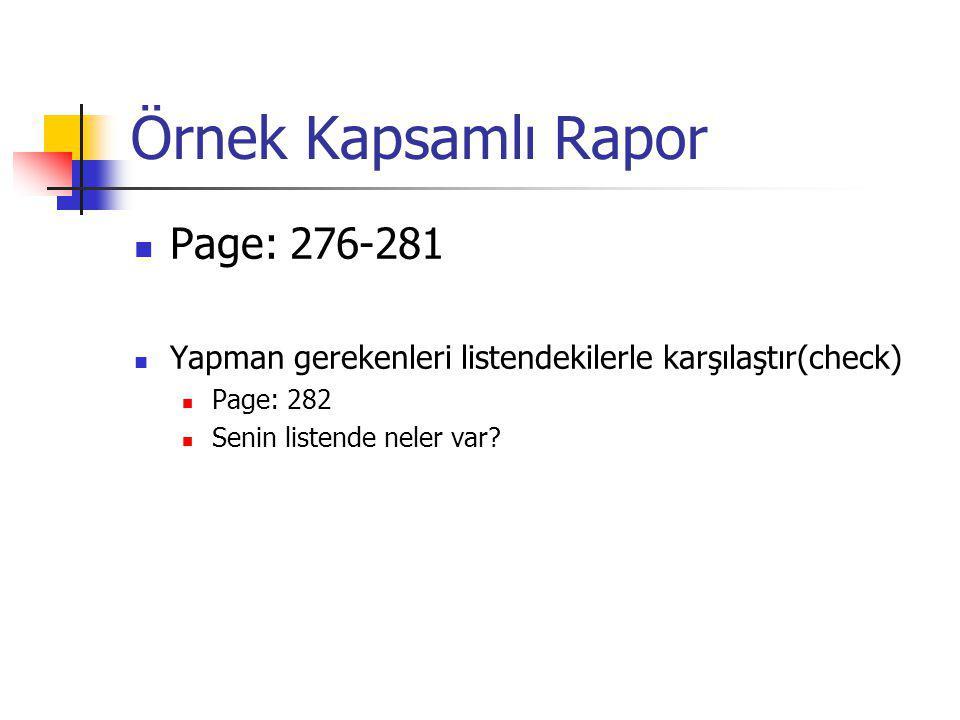 Örnek Kapsamlı Rapor Page: 276-281