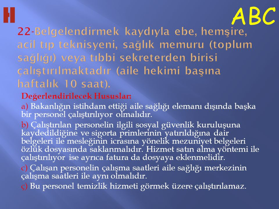 H ABC.