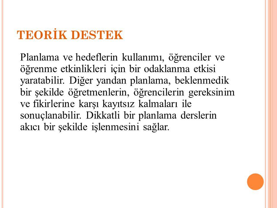 TEORİK DESTEK